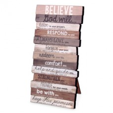 Believe God Will - Wood Stacked Plaque