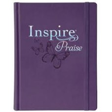 Inspire Praise NLT Bible - The Bible for Coloring & Creative Journaling - Purple HardCover