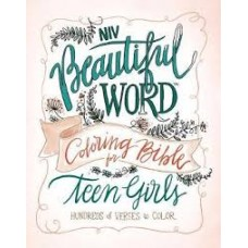 NIV Beautiful Word Colouring Bible for Teen Girls - Hard Cover