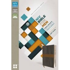 NIV Bible for Men - Charcoal - Tan - Italian Duo-Tone