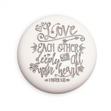All My Heart - Round Desktop Scripture