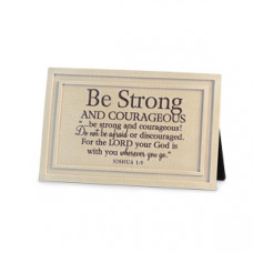 Be Strong - Plaque Linen Textured - 6