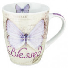 Blessed Mug - Purple Buttefly Design
