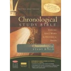 Chronological Study Bible - NKJV - Brown / Auburn Leathersoft