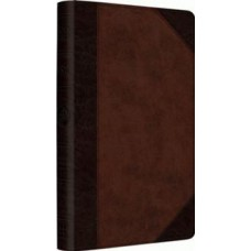 ESV  Large Print Thinline Reference Bible - Trutone Brown/Walnut Portfolio Design