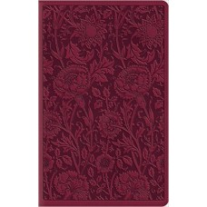 ESV - Large Print Compact Bible - Trutone, Berry, Floral