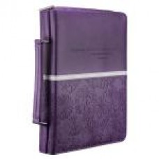 Bible Cover - I Know the Plans - Purple/Floral - Luxleather - Size Medium
