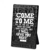 Give You Rest - Black Block Print (Plaque)