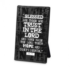 Hope in the Lord - Black Block Print - (Plaque)