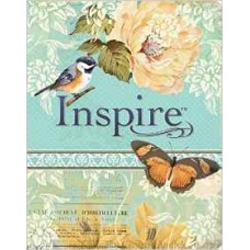Inspire NLT - the Bible for Creative Journaling - Floral Design with Bird & Butterflies