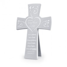 Cross -  Together in Love - Silver Metal