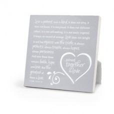 Together in Love - Silver Metal Plaque