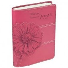 With God All Things Are Possible - Journal - Christian Art - Pink