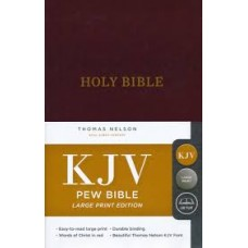 KJV Large Print Pew Bible - Burgundy Hard Cover