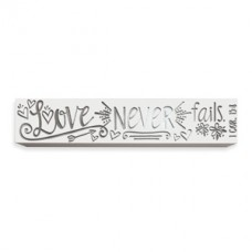 Love Never Fails Bar Plaque