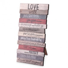 Love Will - Wooden Stacked Plaque