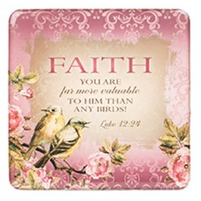 Faith - Meaningful Magnet - Pink Birds
