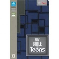 NIV Bible for Teens - Italian Duo-Tone in Charcoal / Blue