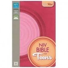 NIV Bible for Teens - Italian Duo-Tone in Hot Pink / Pink