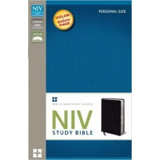 NIV Study Bible - Personal Size - Bonded Leather Black - 2011
