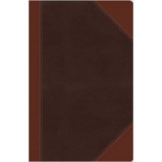 NKJV Giant Print Reference Bible - Two-Tone Brown Leathersoft