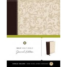 NKJV - Journal Edition - Brown/Cream Linen