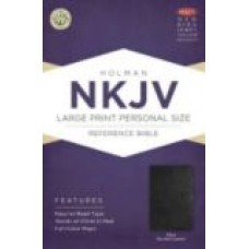 NKJV Large Print Personal Size Reference Bible (Black Bonded Leather)
