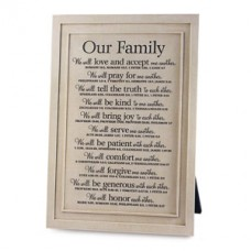 Our Family - One Another - Plaque