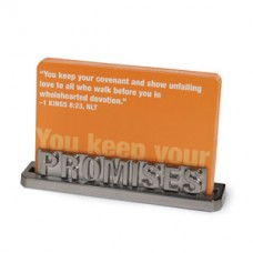 Promises - Silver Scripture Holder