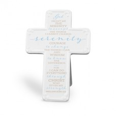 Serenity Prayer - Ceramic Cross