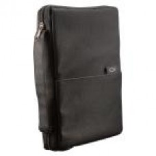 Bible Cover - Thinline Poly-Canvas - Black - Size Medium