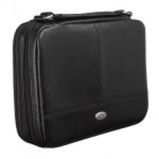 Bible Cover - Two-Fold Organizer (Black) Luxleather - Size Medium